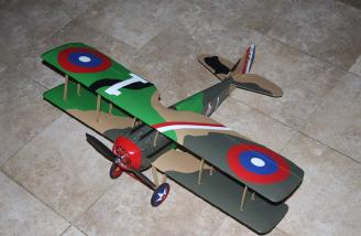 The finished plane ready to fly.