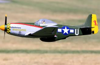 The Parkzone model in a low fly-by, picture by Ronnie Pope.