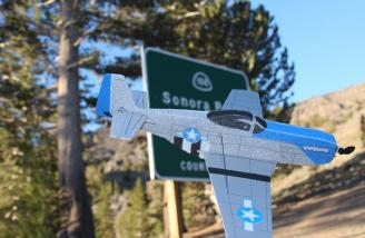I flew at the top of the Sonora Pass.