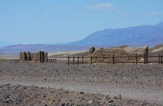 Ruins near the old Borax mine of Twenty Mule Team fame in death Valley.