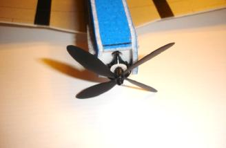 My propeller went from this with four blades...