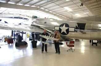 Dick and I on Wednesday at the Commemorative Museum in Mesa with our Wow B-17 Sentimental Journey in front of the the museum's B-17G Sentimental Journey.