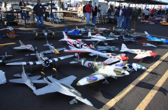Some of the approximate 800 planes at the event on Saturday morning.
