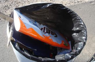 Eratix remains found in a drum the next day.
