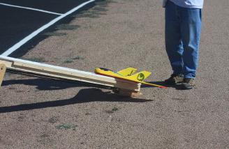 Joe & Phillip Porhammer's launcher for pusher powered planes.