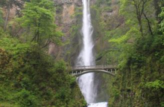 It was too breezy at the bridge to fly in front of Multnomah Falls as I was hoping to do.
