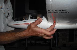 Center of Gravity balance test. LB