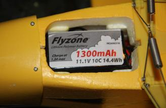The battery as initially installed by me in my Super Cub.