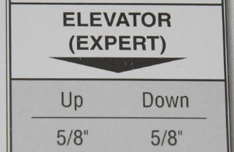 The throw chart used for my elevator throw.