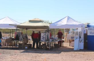 Part of the Vendors' Village on Thursday.