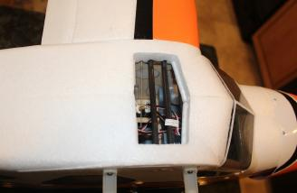 Another view of the installed left wing and you can see the right wing mounting pieces.