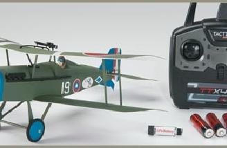 The materials included in the Ready To Fly (RTF) kit less the instructional manual.