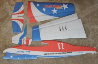The foam parts for the plane