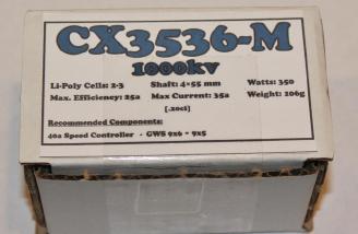 The brushless motor purchased from Gorilla Bob