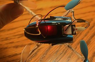 The FPV Nano QX is in Red Agility Mode.