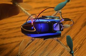 The FPV Nano QX is in Blue Stability Mode.