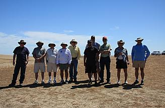 Some of the people at the SBSS Los Banos aerotow event who came over to watch the Alula-Trek on the slope.