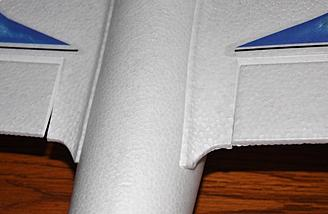 The programmed reflex at the inner flap edges.