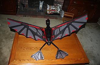 The pterodactyl fully assembled and ready to fly.