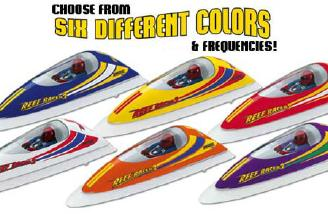 Six colors of Reef Racers and each on its own frequency.