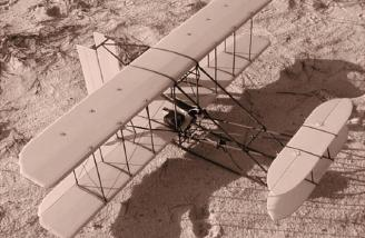 Another view of JAH's plane on the beach taken in Sepia.