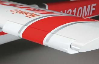 The Spincontrol Airfoil extensions near the tips of the wings come preinstalled.