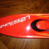 The SuperVee 27 decal was added to the top of the bow.