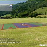 Spot landing can be inserted onto any field as a special event. Here it has been added to the Alpine Meadow Photofield.