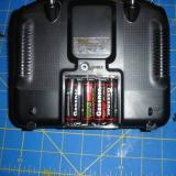 That's right I said for AA batteries to power the transmitter.