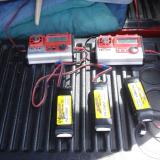 Polyquest LiPoly battery packs being recharged for additional students