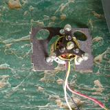 The motor and mounting plate supplied the landing in grass.