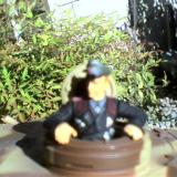 Here I aimed at the tank commander via the lens location. I got the tank commander, but too close and out of focus.
