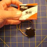 Two Hitec 81 servos used for rudder and elevator.