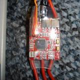 Here is the twenty amp ESC ready to be programmed.