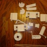 Plastic parts for the flying stabilizer, wing connectors and wing servo connectors.