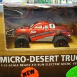 A red Micro-Desert Truck
