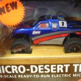 A blue Micro-Desert Truck