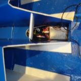 A picture of the receiver and ESC connected and installed in the fuselage.