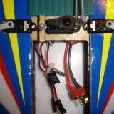 The servo/ESC wires come marked on the ends.