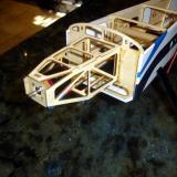 Motor with motor mount glued onto the firewall of the fuselage with 30 minute epoxy.