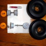 Here are the parts for the wheel hub and tire.