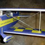 The top wing installed. The cross braces mounted through holes on the struts into the foam.