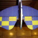 The completed stabilizer section of the plane. It was quick and easy to do.