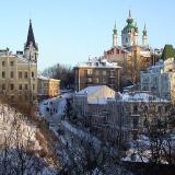 A winter scene in Kiev