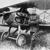 Pictured here with his Spad XIII, ace Frank Luke,