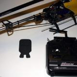Here is the helicopter, the main blade holder and the transmitter.