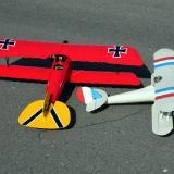 My Albatros D III with my friend's Maxford Nieuport