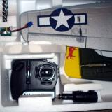 Closeup of the transmitter and the batteries for it packed in the RTF kit box