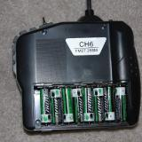 Here, the batteries have been installed in the ZX-10 transmitter.