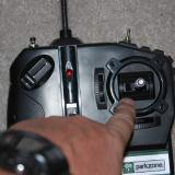 This control stick controls the ailerons (side to side movement) and the elevator (front to back movement).